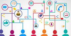 pessoas conectadas pelas redes sociais