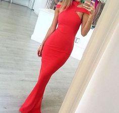 Red off shoulder long prom dress,red evening dresses
