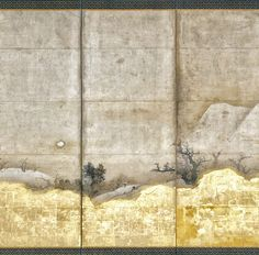 Detail. Scenes from the Eight Views of the Xiao and Xiang Rivers - Unkoku Tōeki - Edo period (17th century). Japanese folding screen. This pair of screens, invoking the Chinese landscape around the Xiao and Xiang Rivers and the traditional couplets associated with its representation, was painted by the second son of Unkoku Tōgan (1547–1618), heir to the artistic legacy and patrons of Sesshû Tōyō (1420–?1506) in western Japan
