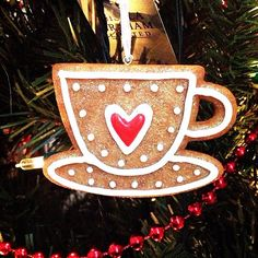 the #gingerbread #teacup #christmas #decoration