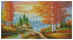 Looking for your next project? You're going to love Golden Autumn Counted Cross Stitch Chart by designer Luba Davies.