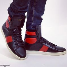 Saint Laurent sneakers high top trainers in blac