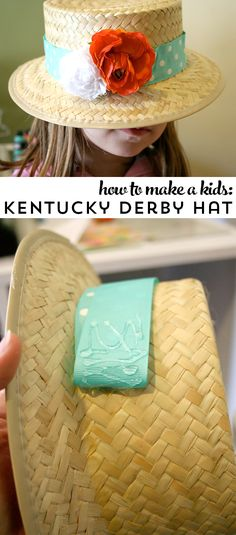 How to make a hat for the Kentucky Derby- perfect for kids parties or school!