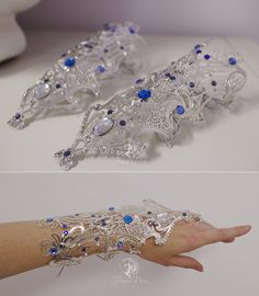 Princess Alyndra Elora Moonflower Gauntlets by Firefly-Path