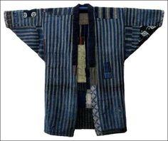 Hand Stitched Sashiko Farmer's Boro Jacket, cotton, Handspun and Hand Loomed Fabrics, early 1900s.