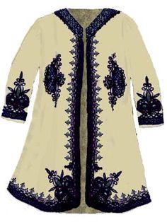 Clisura Fata Cojoc Hippie Outfits, Caftans, Fashion History, Traditional Dresses, Romania, Hippie Boho, Ukraine, Chicken Recipes, Character Design