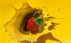Strawberry Splash - This photo was a the first time I ever got screwed over by sRGB color profile transformations