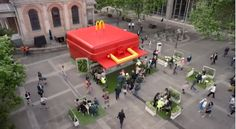McDonald's Sets Up Huge Lunch Box-Shaped Restaurant To Promote New Items - DesignTAXI.com