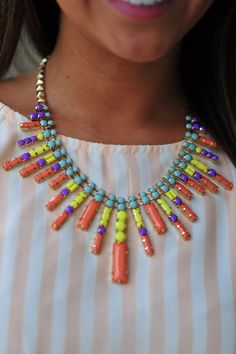 You're A Firework Necklace: Gold/Multi