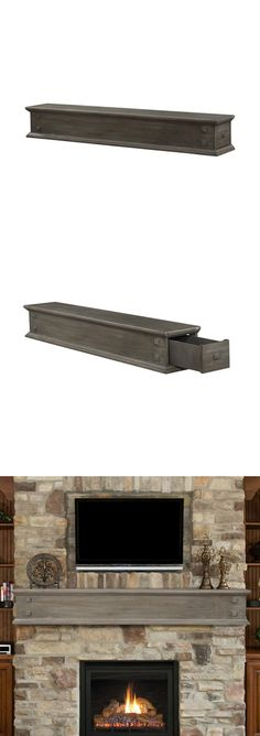 jackson outer banks fireplace mantel shelf with drawers