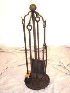 """Fireplace Tool Set"" #3  James McGee Iron Designs"