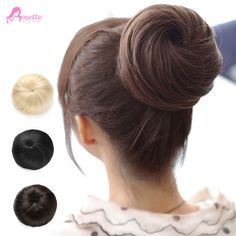 1PC Chignons High Quality Synthetic Fibre Ballet Donunt Hair Bun Extension Updo For Long Lair Factory Direct Sale