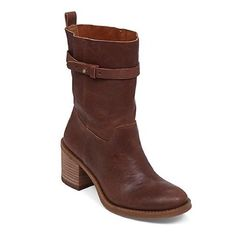 LISTING Lucky Brand Slouch Moto Brown Boot #9 Moto inspired boots crafted from supple leather and finished with metal O-ring detailing. 2.3 inch stacked heel. Leather upper, synthetic lining, rubber outsole. Comes in box 03716 Lucky Brand Shoes Combat & Moto Boots
