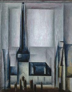 Lyonel Feininger - Gelmeroda III (1913) Loved this painting @ the Degas to Dali exhibition (auckland art gallery - Toi o Tamaki)