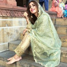 Girl Next Door Fashion. This article is going to teach you some things you don't know about fashion. Pakistani Bridal Makeup, Pakistani Wedding Dresses, Indian Dresses, Indian Outfits, Maya Ali, Pakistani Culture, Eid Outfits, Desi Wear, Indian Designer Wear