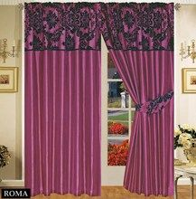 Half Flock with Plain Design Fully Lined Ready Made Pencil Pleat Curtains - Aubergine with Black - RV Your Price: £20.99 Product Description GORGEOUS & LUXURIOUS Half flock ready made curtains. Frame your windows with a modern style with our elegant half flock fully lined / pencil pleat / tap top curtains.