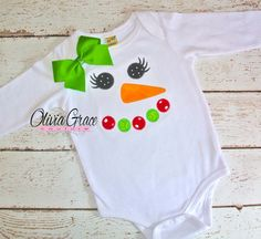 Snowgirl Snowman Girls Embroidered shirt or onesie by OliviaGraceCouture,