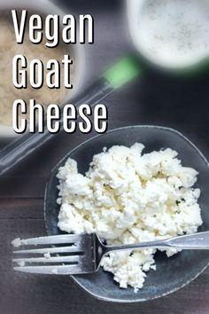 Vegan Goat Cheese spabettie - My list of the best food recipes Vegan Cheese Recipes, Vegan Sauces, Raw Food Recipes, Vegan Feta Cheese, Cheese Food, Free Recipes, Vegan Cottage Cheese, Vegan Cheese Substitute, Vegan Queso