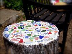 Tree Stump Mosaic