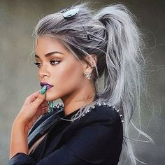 15 Most Hottest Grey Hair Color Trends for Coolest Women – Cool Global Hair Styles 2019 Grey Hair Wig, Silver Grey Hair, White Hair, Olive Skin Blonde Hair, Silver Hair Girl, Purple Grey Hair, Brown Hair, Different Hairstyles, Trendy Hairstyles