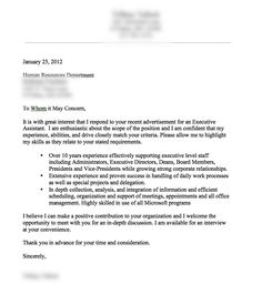 a very good cover letter example - Management Cover Letter