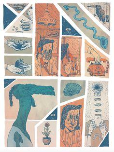 FLORIST - A Comic publication by Erik Svetoft, from Gothenburg, Sweden. #illustration #comics #comicbooks