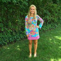 Via @pinkpalm Richmond Instagram- Lilly Pulitzer Fairfield Tunic Dress in Summer Haze #SummerinLilly