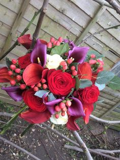 Vibrant bouquet wedding in Leicester