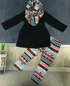 Aztec pants and scarf