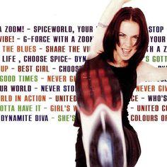 Melanie C AKA Sporty Spice in the Spiceworld album (1997) photographed by Christophe Gstalder.