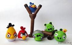 Angry Birds made from paper using 3D Quilling techniques
