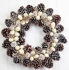 Image result for natural christmas decorations with pine cones