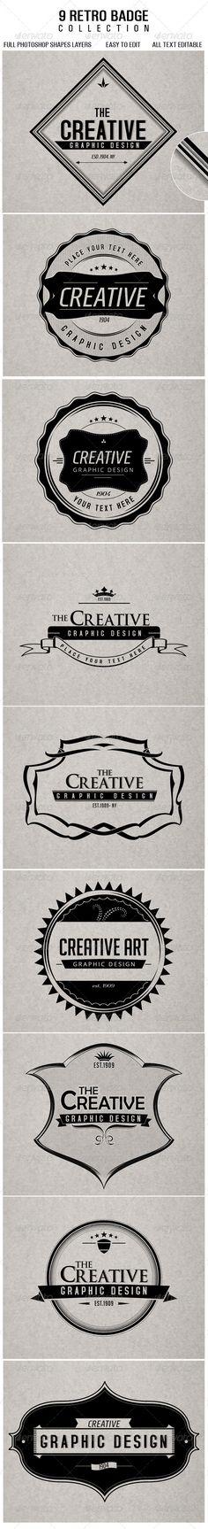 Retro Badges - GraphicRiver Item for Sale