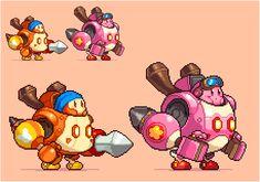 Kirby - robot - pixelart