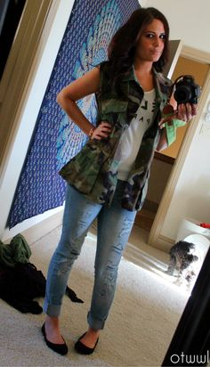 Diy Salvation Army Camo vest