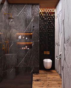Textured wall tile behind. Washroom Design, Toilet Design, Bathroom Design Luxury, Hotel Room Design, Beautiful Bathrooms, Home Interior, Bathroom Inspiration, House Design, Wall Tile