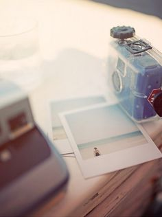 Give the girls Polaroid cameras the weekend of the wedding