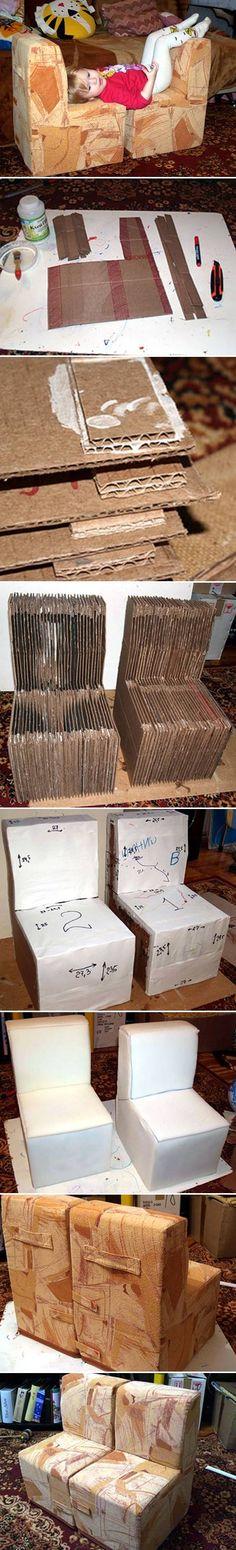 DIY Cardboard Child Chair DIY Cardboard Child Chair by diyforever