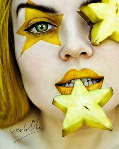 Fruity Self-Portraits by 16-Year-Old Cristina Otero. Gorgeous Self portraits, I love her eyes!
