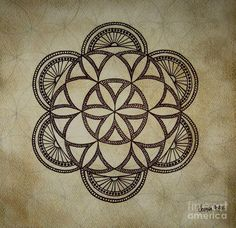 Flower of life mandala, with more detail