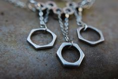 Strength Silver Necklace by RPGRegalia on Etsy