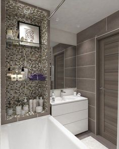 Small Home design plan with 4 Bedrooms - Home Ideas Bathroom Design Small, Small House Design, Bathroom Layout, Bathroom Ideas, Bath Design, Tile Design, New Interior Design, Bathroom Interior Design, Bad Inspiration