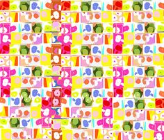 SPRING_GARDEN_01-_SMALLER fabric by soobloo on Spoonflower - custom fabric