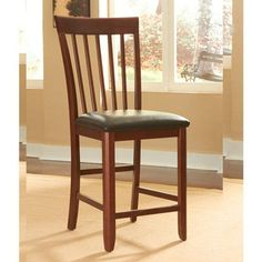 A-America Granite Convertible Slatback Upholstered Counter Chairs - Set of 2 - AAME204