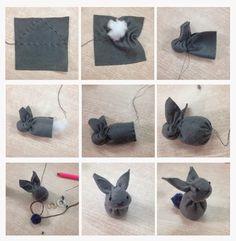 Wennepen [ f o t o ] grafische vormgeving: DIY paashaasje /konijntje van vilt