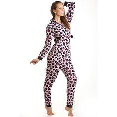Combinaison pyjama à capuche en polaire - motif léopard - femme - rose - taille 36-46 44/46: Amazon.fr: Vêtements et accessoires