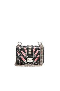 00d2edc8ecd5 VALENTINO Embellished Mini Lock Shoulder Bag.  valentino  bags  shoulder  bags  crystal