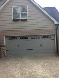 Short Panel Raised Steel Garage Door In Terratone Color