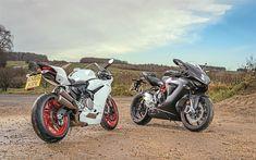 Indir duvar kağıdı 800 MV Agusta F3, Ducati 959 İstasyonu, 4k, sportsbikes, 2018 motosiklet, Ducati, MV Agusta