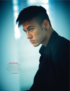 Brazilian footballer Neymar da Silva Santos Junior is photographed by Jean-Baptiste Mondino and styled by Camille de Ginestel in the story 'Il Nuovo O'Rey' for the September 2013 issue of GQ Italia. /Make-up hair by Angelik Iffennecker.